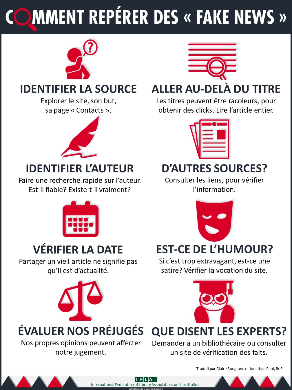 french how to spot fake news