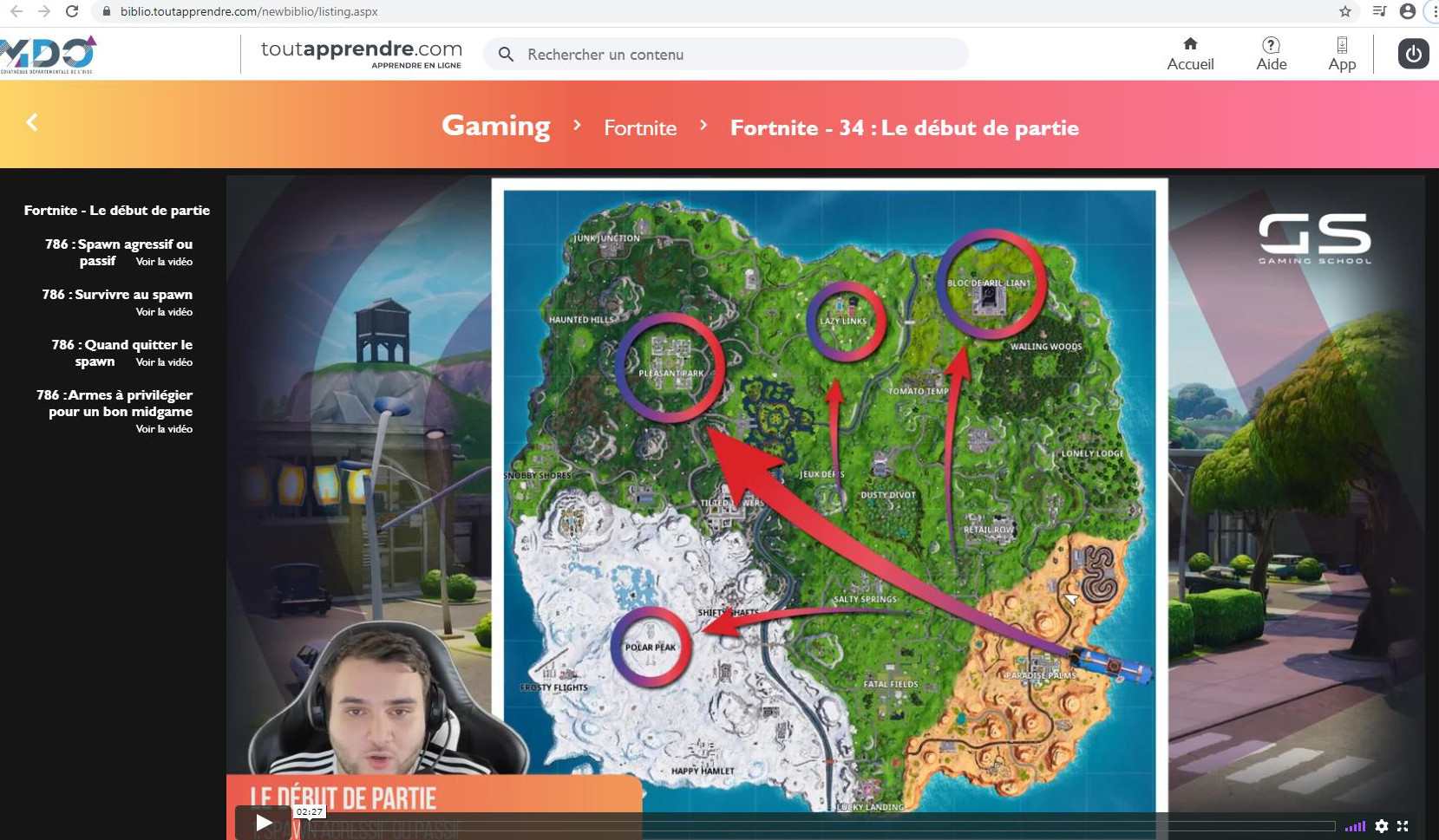 capture ecran ttapprendre fornite